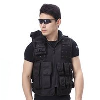 Wholesale Military Tactical Assault Vest - Airsoft Paintball Wargame Tactical Outdoor SWAT Police Military Supplies Combat Assault Hunting Protective Vest Black