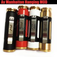 Wholesale Wholesaler E Cigs Usa - Top quality Av Manhattan Hanging Mod USA full Mechanical camouflage Clone 510 Thread Brass Vape Pen Able 18650 Battery Mods vapor e cigs DHL