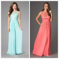 Wholesale Cheap Formals China - Aqua Lace Chiffon Long Bridesmaid Dresses 2016 Vintage Cheap Elegant Evening Dresse Formal Gown from China