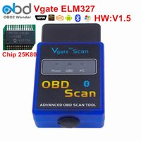 Wholesale Hot Sales Vgate ELM327 OBD2 Bluetooth Vgate Scanner OBDII ELM V1 Support J1850 Code Reader