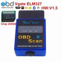 Wholesale Elm327 Fiat - Hot Sales Vgate ELM327 OBD2 Bluetooth Vgate Scanner OBDII ELM 327 V1.5 Support J1850 Code Reader