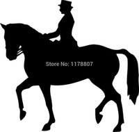 Wholesale Red Horse Riding - Wholesale 20pcs lot Home Decorations Automobile and Motorcycle with Products Vinyl Decal Car Glass window Stickers Jdm Horse Riding