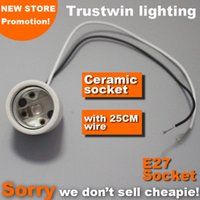 Wholesale Spot Lights Holder - High quality E27 bulb holder spot light spotlight electrical wire cable base socket E27 lamp bulb light holder