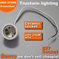Wholesale e27 ceramic bulb resale online - High quality E27 bulb holder spot light spotlight electrical wire cable base socket E27 lamp bulb light holder