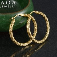 Venda por atacado - Hot Sale Stainless Steel Circle Creole Hoop Earrings Gold-color Bamboo Basketball Wives Hoop Earrings For Famale Gift