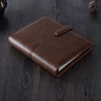 Wholesale School Notebook A5 - Wholesale- A5 Spiral Leather Notebooks Diary Sketchbook Office Personal Agenda Planner Organizer Stationery School gift supplies