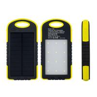 güneş ışığı paketleme toptan satış-Açık Kamp Güneş Şarj, 8000 mAh Güneş Pil Şarj Güç Bankası Perakende Paketi Ile Cep Telefonları Için 12 adet LED Açık Kamp Işık