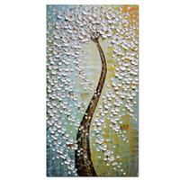 para ağaç sanatı toptan satış-El Boyalı Para Ağacı Sanat Resimleri Çerçeveli Için Büyük Duvar Sanatı Oturma Odası Duvar Dekor Için Tuval Üzerine Güzel Sanatlar Resim Sergisi TOP1605
