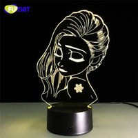 Cute Girl 3D Lamp Teenage Girl Night Light Lampadaires Table Lampara avec Touch Changeable Night Light Cadeau de Noël USB Charging Remote Cont