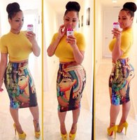 Wholesale Hot Sexy Skirt Set - HOT SALE Fashion dresses for womens Novelty Bodycon High Waist Sexy Long Sleeve Short Crop Top and Midi Pencil Skirt 2 pieces Set
