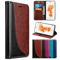 Wholesale Leather Magnetic Wallet - For iPhone 8 7 Plus Luxury Leather Wallet Case Magnetic Card Flip Stand Phone Cover Money Pouch Pocket for iPhone8 LUXMO