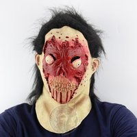 Wholesale Room Suite - Blood face blinks horror zombie head suite Halloween foreign trade ghost room secret room escape dress up live mask