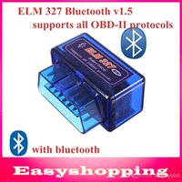 Wholesale Launch Super Scanner - 2014 Latest version 10pcs lot Super Mini Elm327 Bluetooth V2.1 OBD2 Scanner ELM 327 Bluetooth Smart Car Diagnostic Interface ELM 327 V2.1