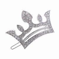 Wholesale Eastern Dance - New Princess Silver Gold Plated Crystal Crown Hairpins Hair Accessories Girls Tiaras Headwear Girl Xmas Dancing Party Hair Clip DHF583