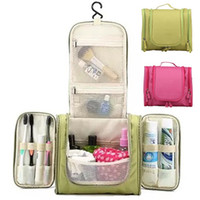Wholesale large hanging makeup organizer - Portable Large Hanging Toiletry Bag Travel Bag Waterproof Cosmetic makeup bag Bathroom Storage Makeup Organizer one size many colors