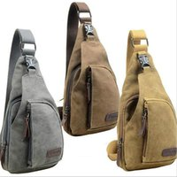 Wholesale Black Military Singles - Man Military Messenger Bag Sport Casual Outdoor Cycling Hiking Sport Chest Bag Canvas Small Crossbody Sling Shoulder Bag Pack Hot SV028991