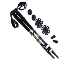 Wholesale Nordic Walking - Wholesale-2pcs lot 7075 Aluminum Hiking Stick Nordic Walking Stick Outdoor 65-135cm Telescopic Handle Climbing Equipment Trekking Poles