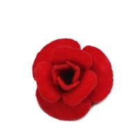 Atacado- Estilo Romântico Red Rose em forma de flor Velvet Setting Broochs Pin Mulheres Moda Colorful Suit Sweater Dress Brooch Jewelry