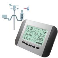 Wholesale Rain Meter - Professional Temperature Sensor Range 100M Wireless Weather Station LCD Digital Multifunction Humidity Rain Pressure Wind Speed Meter