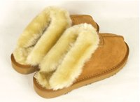 Wholesale Womens Leather Snow Boots - Brand slippers warm Warm cotton slippers Men Womens slippers Womens boots Snow boots Brand Designer Indoor cotton slippers Leather slippers