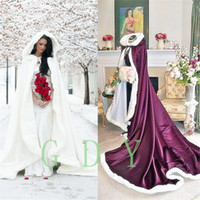 Wholesale High Quality Wedding Dres - Wedding Cloak Christmas Cape Bride Shawl Autumn and Winter New Elegant Temperament Illusion Noble Bridal Cape Sexy High Quality Formal Dres