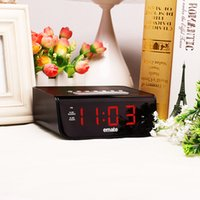 Wholesale Digital Clock Radios - locks Alarm Clocks Multifunctional LED radio controlled digital alarm clock snooze electronic desktop clock with LCD backlight despertad...