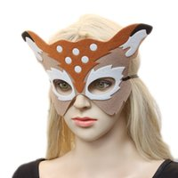 Wholesale latest masks for sale - Group buy 2017 the latest fashion trend of high quality Christmas party party half face deer face with men and women children s accessories mask whole