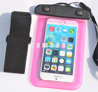 Wholesale Case S4 Zoom - PVC Waterproof Dry Bag with Lanyard Underwater Transparent Cellphone Pouch Case for samsung galaxy s4 zoom
