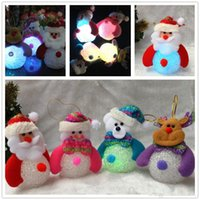 Luminous Santa Claus Snowman Bear Elk 4 Styles Exclusif Super Cute décoration Décoration Décorations Décoration Light Wholesale