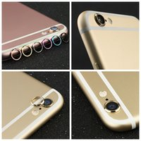 Wholesale Cameras Case For Sale - For iphone 6 6s 6Plus Plus Metal lens Cap protector Ring Hoop Mobile phone Camera Protection Cover Skins+With Retail Package Top Sale! 2016