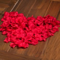 Wholesale Colorful Artificial Flowers - 2016 Hot Wholesale - Colorful 1000PCS Artificial Rose Petal Favor Wedding Festival Party Decoration Accessory Flower Pick color freeshipping