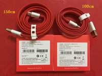 Wholesale Dash Data - For OnePlus 3 3T 150cm Universal flat noodle DASH Charge Type-C Data Sync Cable Cord for One Plus three T threeT 1+ 3 3T 5