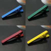 Matte givré pinces à cravate tirants solides 4,5 * 1.5cm 8 couleurs cravate clips pour l'homme d'affaires cravate père Cravate mens clip pince à cravate