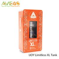 Wholesale Atomizer C4 - Original Ijoy limitless XL tank 4ml sub ohm RTA atomizer with XL-C4 light-up chip coil 0.15ohm for 50-150w Elektronik Sigara vape mods