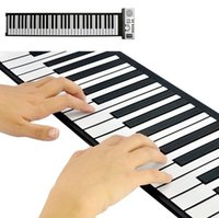 Wholesales Custom OEM Hotsale Portable 61 Keys Electronic Digital Roll Up Roll-Up MIDI Soft Piano Keyboard Instrumentos musicais Frete grátis
