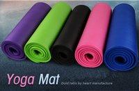 ingrosso materiale yoga mats-Marca Allungare Allungare Tappetino Yoga Protezione dell'ambiente Materiale NRA Donna Forniture fitness 10 mm Vendita 1 pezzo