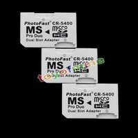 30xDual slot Micro SD SDHC TF à MS Memory Stick Pro Duo Adapter Converter pour PSP