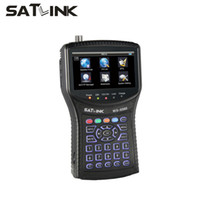 ingrosso contatore di segnale hd-Satlink WS-6960 LCD da 4.3 pollici DVB-S2 HD Satellite Finder cercatore di segnale meter Satlink finder ws6960 all'ingrosso