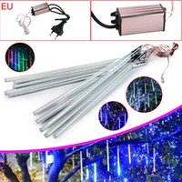 Wholesale Outdoor 12v Led String - 30cm 50cm 80cm 2835 SMD Meteor Shower Rain Outdoor LED Tube Strings Christmas Fairy Light Lighting 10Tubes Waterproof for Party Decoration