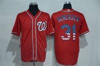 Wholesale Cheap Usa Flags - Max Scherzer Jersey Cheap Mens Washington Nationals #31 Max Scherzer Jersey Red USA Flag Version Baseball Jerseys