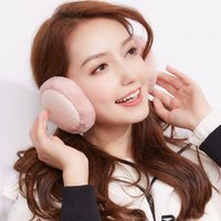 2017 New Warm Winter Female Bag Atacado Earmuffs Ear Care Plus Velvet Windproof Orelhas dobráveis ​​Warm Plush Cute Famale Ear Muffs