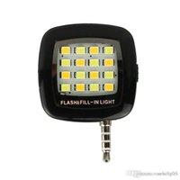 Wholesale Smart Torch Light - Selfie Light Torch Mini Portable Selfie Flash Light 16 LEDS Flash Fill Light Match With Selfie LED Stick Monopod Tripod For Smart Phone