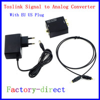 Wholesale Coaxial Cable Converters - 2016 Hot Sale Digital Adaptador Optic Coaxial RCA Toslink Signal to Analog Audio Converter Adapter Cable EU US Pl