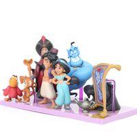 Wholesale Princess Dolls Collection - 8pcs Aladdin and the Magic Lamp Princess Jasmine Evil Monkey Tiger Fairytale Designer Collection Doll Set Cosplay Action Figure