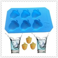 Wholesale Silicone Molds For Candles - Pine nuts ice tray Cake Mold Flexible Silicone Soap Mold For Handmade Soap Candle Candy bakeware baking moulds kitchen tools ice molds
