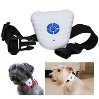 Wholesale Sound Collars - 50pcs lot Pet Electric Dog Waterproof Stop Barking Ultrasonic Anti Bark Collar Sound Training trainers