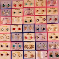 Wholesale Flowers Delivery Free Shipping - Mix delivery with little box!! Diamond,Rhinestone, Crystal Earring, fashion style, Hign quality and Free Shipping