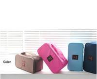Wholesale wardrobe storage - Five Color Underwear Storage Bag Portable Underpant Bra handbag Travel Organizer Bag Storage wardrobe organizer Waterproof wash bag