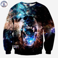 Wholesale Ferocious Animals - Hip Hop Casual hoodies for men women 3d sweatshirts print Ferocious dog sharp teeth animals slim galaxy hoodies