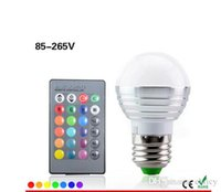 Wholesale Ktv Room Decoration - Super bright E27 RGB Led Bulb Lamp AC110V 220V 5W 16Colors Changing Lighting For KTV BAR Holiday Art Decoration with IR Remote Controller